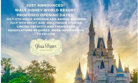 Image of Proposed Reopening Date for Walt Disney World Resort