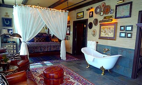 Disneyland Hotel Adventureland Suite master bedroom image
