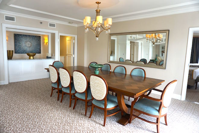 Disney's Beach Club Resort Presidential Newport Suite dining room image