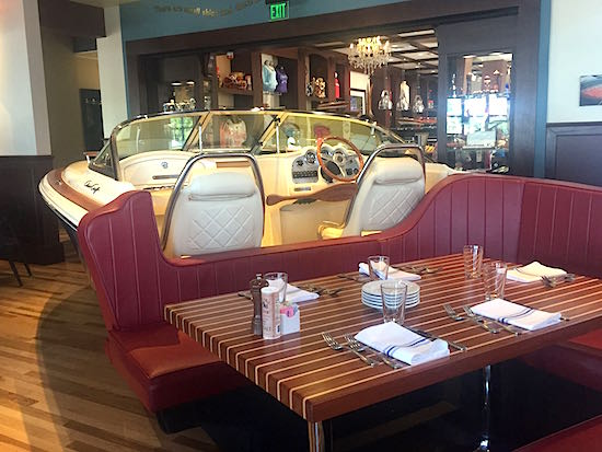 Disney Springs The Boathouse Restaurant Chris Craft booth image