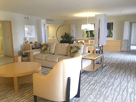 Disney S Contemporary Resort One And Two Bedroom Suite Living Room Image