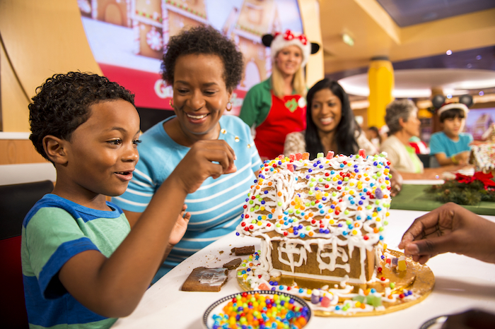 Disney Cruise Line gingerbread house building image
