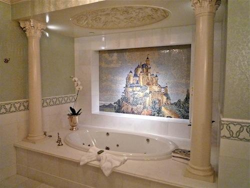 Disneyland Hotel Fairy Tale Suite bath image