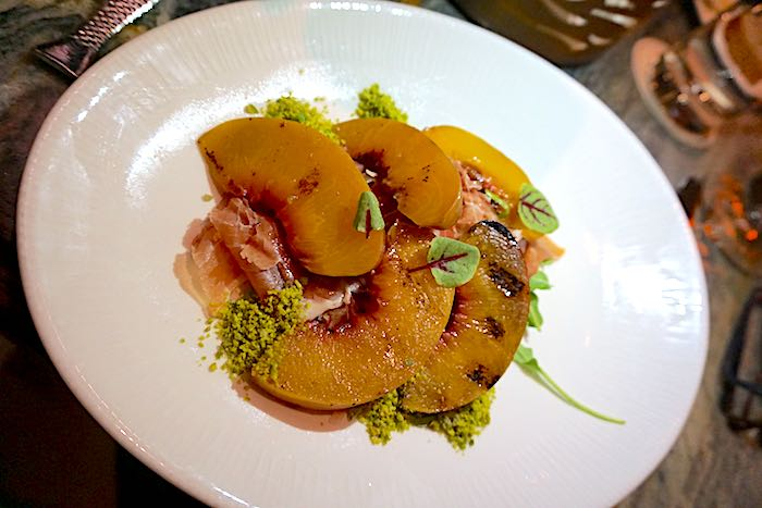 Disney's Flying Fish restaurant peach salad image