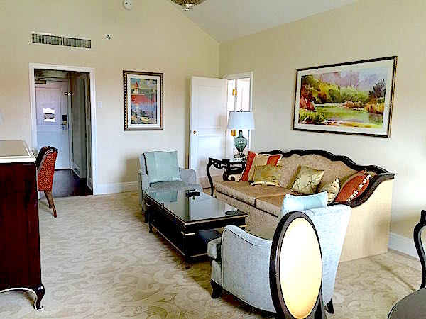Disney's Grand Floridian Resort one-bedroom suite living room image