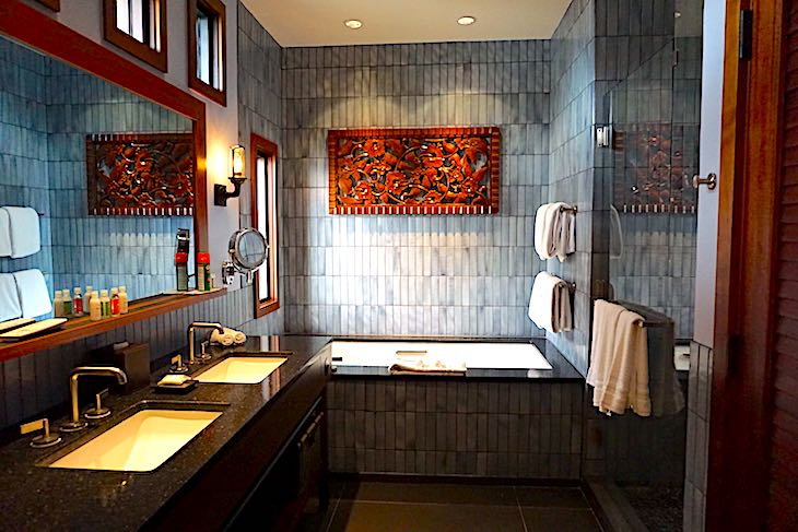Disney's Polynesian Villas bungalow master bath image