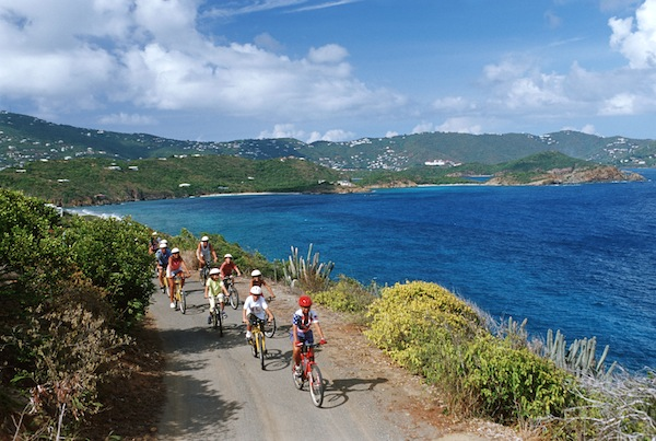 Disney Cruise Line port excursions bicycling image