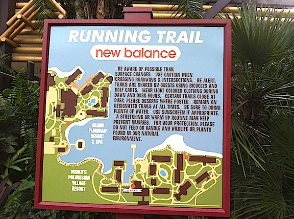 Disney Running Trail Sign image