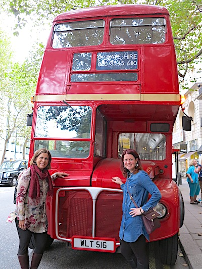 Adventures By Disney London red bus image