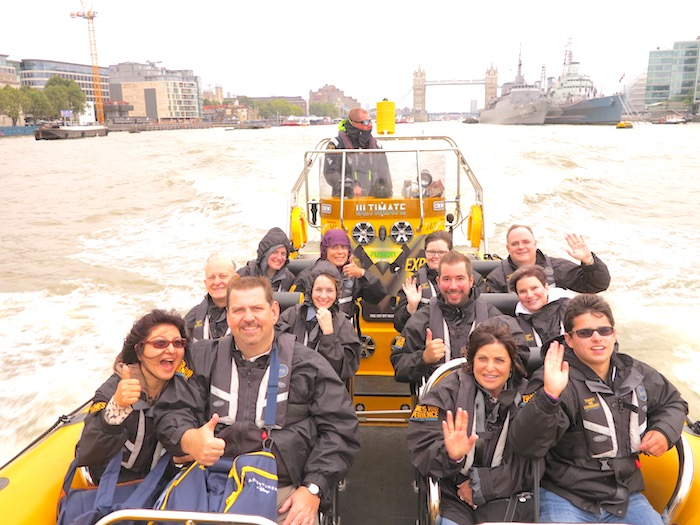 Adventures By Disney London RIB boat image