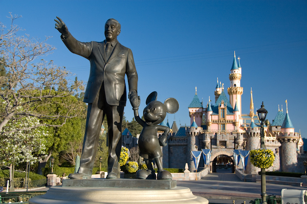 Walt and Mickey statue Disneyland Park image