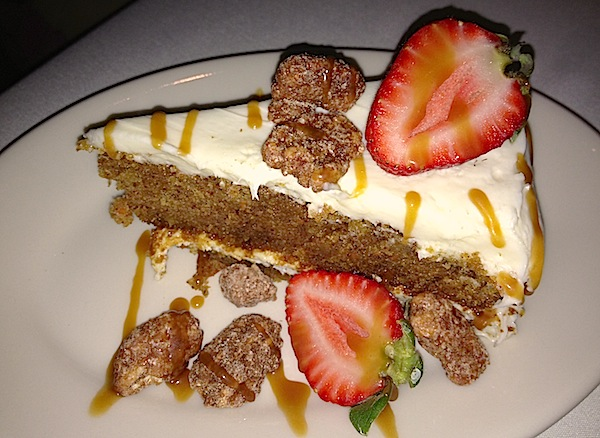 The Dining Room at Wolfgang Puck's Grand Cafe Downtown Disney carrot cake image