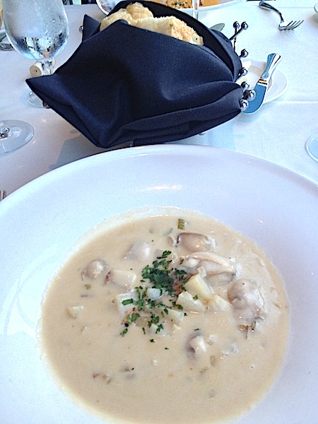 The Dining Room at Wolfgang Puck's Grand Cafe Downtown Disney oyster chowder image
