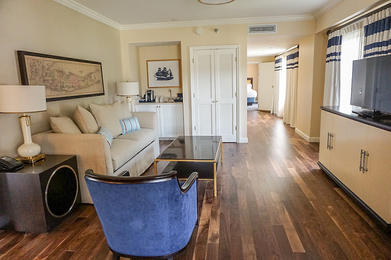 Disney's Yacht Club Turret Two-Bedroom Suite living room imag
