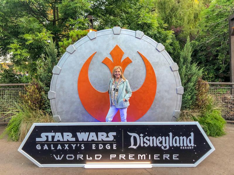 Cara Goldsbury Star Wars Galaxy's Edge grand opening image